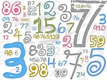 Colorful numbers background Royalty Free Stock Image