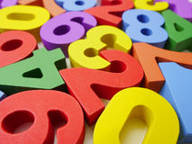 Colorful numbers background Royalty Free Stock Photos