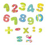 Colorful numbers for children Royalty Free Stock Photo