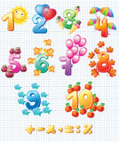 Colorful numbers for children Stock Photos