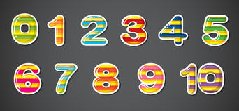 Colorful numbers Stock Photos