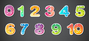 Colorful numbers Royalty Free Stock Image
