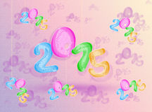 Colorful numbers  2015. Royalty Free Stock Photos