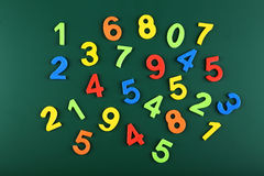Colorful numbers on school board Stock Image