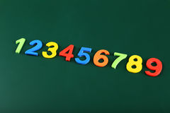 Colorful numbers on school board. Stock Photography