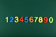 Colorful numbers on school board. Royalty Free Stock Images