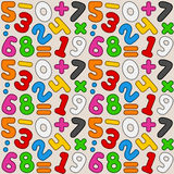 Colorful Numbers Seamless Pattern Royalty Free Stock Photos