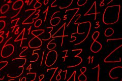 Colorful numbers set. Abstract background. Numbers hand written. royalty free stock photos