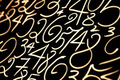 Colorful numbers set. Abstract background. Numbers hand written. royalty free stock images