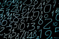 Colorful numbers set. Abstract background. Numbers hand written. stock images