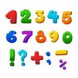 Colorful  numbers set Royalty Free Stock Image