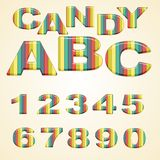 Colorful Numbers stylized candy Royalty Free Stock Photos