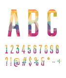 Colorful numbers and symbols  made of abstract geometric shapes Royalty Free Stock Photography
