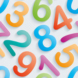 Colorful numbers wallpaper. Stock Photos