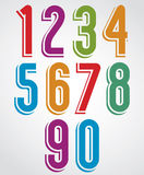 Colorful numbers with white outline. Royalty Free Stock Photos