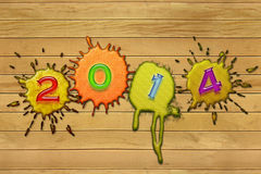 Colorful numbers 2014 Stock Photography