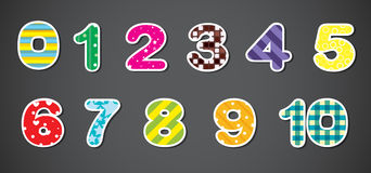 Colorful numerical figures Royalty Free Stock Photo