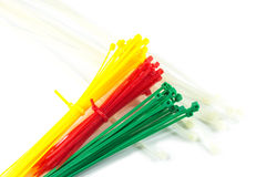 Colorful Nylon Cable Ties Stock Image