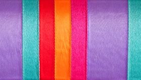 Colorful nylon. Colourful pieces of nylon fabric as a background Royalty Free Stock Image