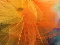 A colorful nylon gauze  background and textures Royalty Free Stock Photos