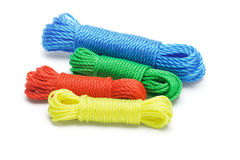 Colorful nylon ropes Stock Photo