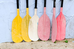 The colorful oar Stock Photos