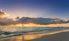 Colorful ocean beach sunrise - Tropical Beach Royalty Free Stock Photo