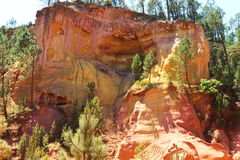 Colorful ochre rocks near Roussillon in France Stock Photo