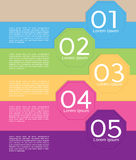 Colorful Octagon Banner Template. Royalty Free Stock Image