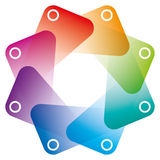 Colorful Octagon Symbol with transparent effect. Royalty Free Stock Images