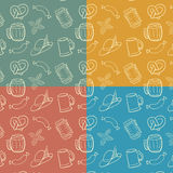 Colorful Octoberfest Seamless Background. Stock Photos