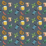 Colorful Octoberfest Seamless Background. Stock Photography