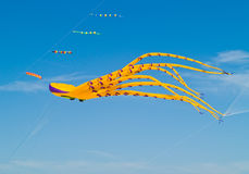 Colorful Octopus Kite Flying Royalty Free Stock Photos