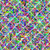 Colorful odd geometric mosaic background. Cute poster and banner Stock Images