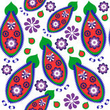 Colorful odd paisley seamless pattern and seamless pattern in sw Royalty Free Stock Photos