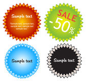 Colorful offers stickers. Colorful offers stickers in format royalty free illustration