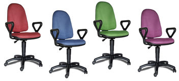 Colorful office chairs Stock Photography