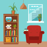 Colorful office desk with indoor plants Royalty Free Stock Photo