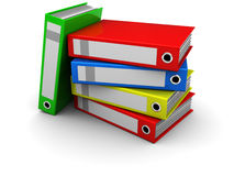 Colorful office folders Royalty Free Stock Image