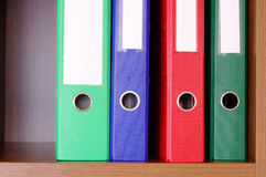 Colorful office folders Stock Image