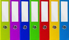 Colorful office folders, business background Stock Image