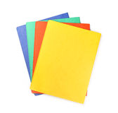 Colorful office folders isolated Stock Image