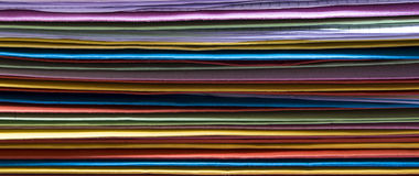 Colorful office folders unsorted Royalty Free Stock Photography