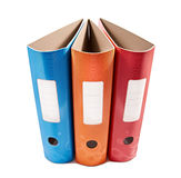 Colorful office folders Royalty Free Stock Photography