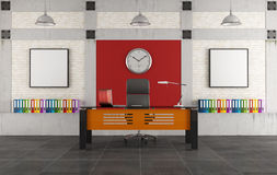 Colorful office in a loft Stock Image