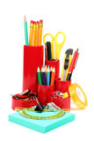 Colorful office school supplies Royalty Free Stock Image