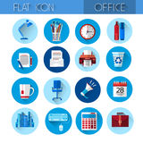 Colorful Office Set Icon Collection Stock Images