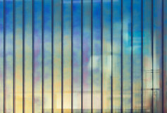 Colorful office wall made of glass, background Royalty Free Stock Image