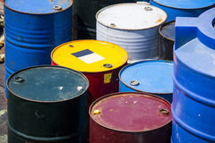 Colorful oil gallon Royalty Free Stock Photography