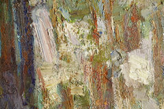 Colorful oil paint texture closeup Royalty Free Stock Images